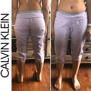 Calvin Klein Crop Joggers with Faux Underwear Look